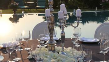 Décoration florale et centre de table des événements privés