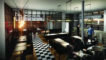Perspective 3d pour la création d'un restaurant