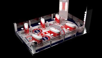 Création de perspective 3D pour aménagement de stand